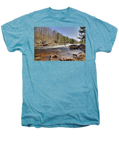 Men's Premium T-Shirt featuring the photograph Rushing Waters Of The Moose River by David Patterson