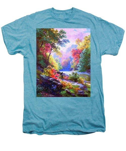 Sacred Landscape Meditation Men's Premium T-Shirt