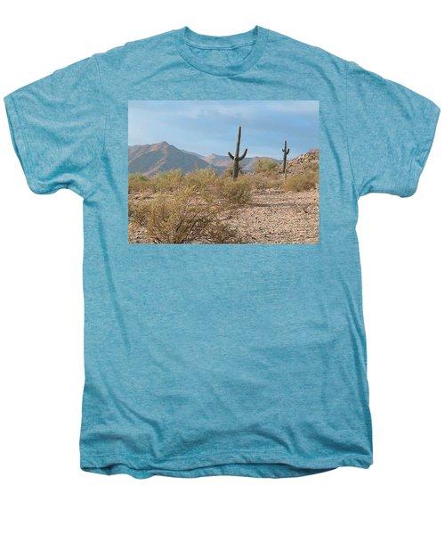 Saguaros On A Hillside Men's Premium T-Shirt