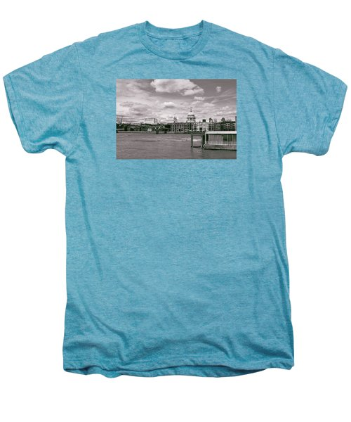 Saint Pauls Cathedral Along The Thames Men's Premium T-Shirt