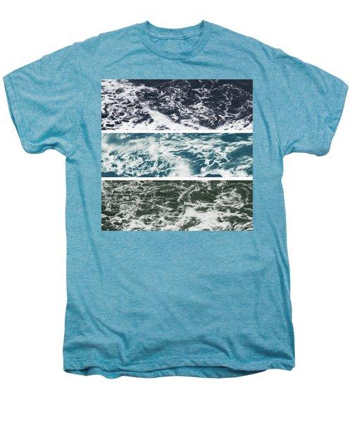 Salt Water Triptych Variation 2 Men's Premium T-Shirt