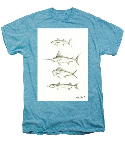 Saltwater Gamefishes Men's Premium T-Shirt by Juan Bosco