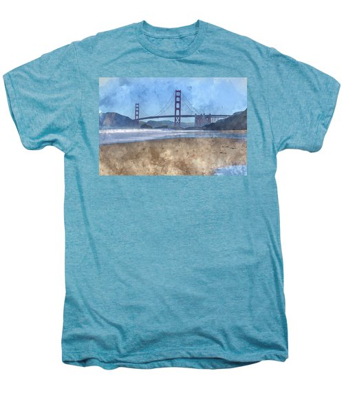 San Francisco Golden Gate Bridge In California Men's Premium T-Shirt
