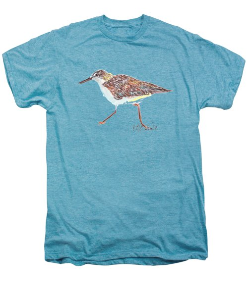 Sandpiper Bird Men's Premium T-Shirt by Kathleen McElwaine