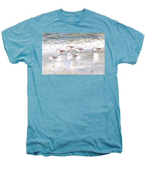 Sandpipers On Siesta Key Men's Premium T-Shirt by Shawn McLoughlin