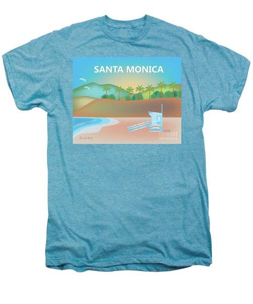 Santa Monica California Horizontal Scene Men's Premium T-Shirt