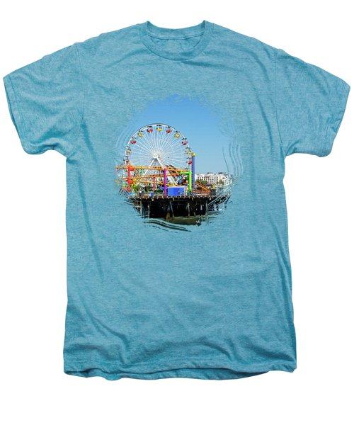 Santa Monica Ferris Wheel Men's Premium T-Shirt
