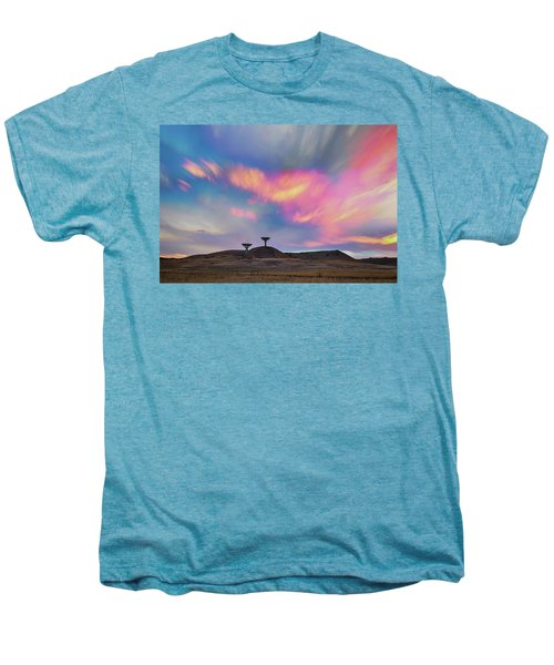 Men's Premium T-Shirt featuring the photograph Satellite Dishes Quiet Communications To The Skies by James BO Insogna