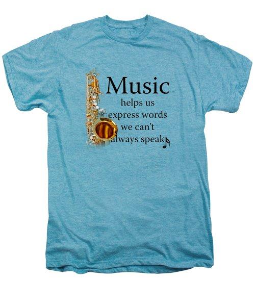 Saxophones Express Words Men's Premium T-Shirt