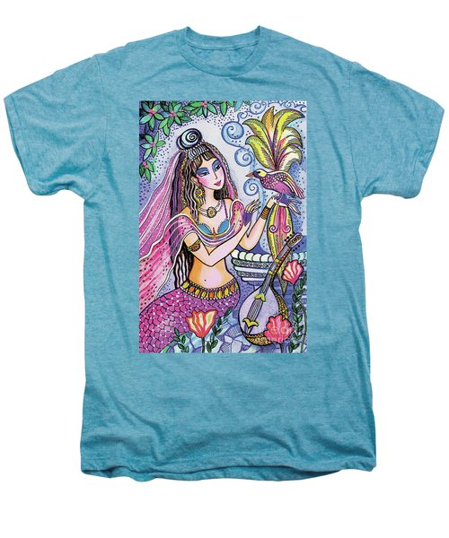Men's Premium T-Shirt featuring the painting Scheherazade's Bird by Eva Campbell
