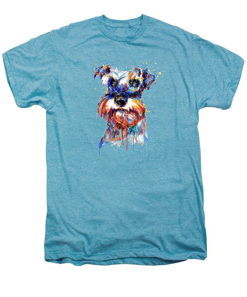 Schnauzer Head Men's Premium T-Shirt by Marian Voicu