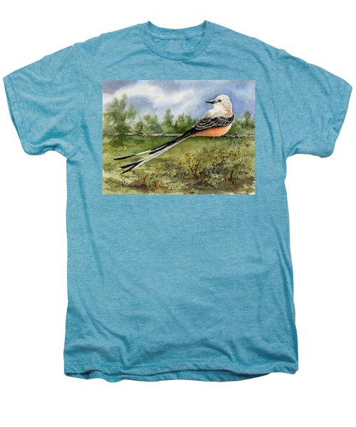 Scissor-tail Flycatcher Men's Premium T-Shirt by Sam Sidders