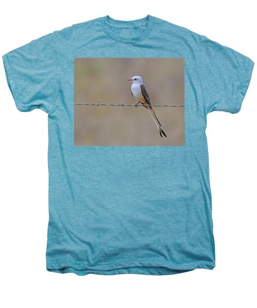Scissor-tailed Flycatcher Men's Premium T-Shirt by Tony Beck