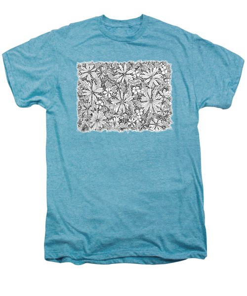Sea Of Flowers And Seeds At Night Horizontal Men's Premium T-Shirt by Tamara Kulish