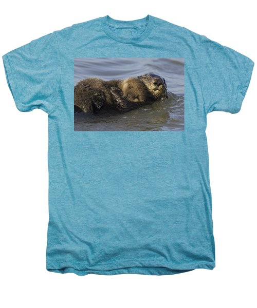 Sea Otter Mother With Pup Monterey Bay Men's Premium T-Shirt by Suzi Eszterhas