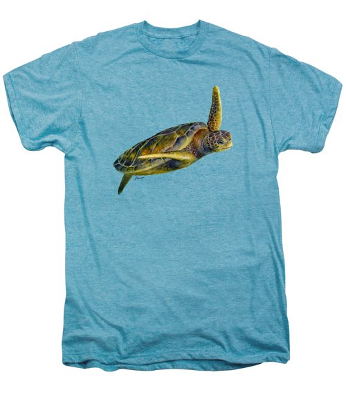 Sea Turtle 2 Men's Premium T-Shirt by Hailey E Herrera