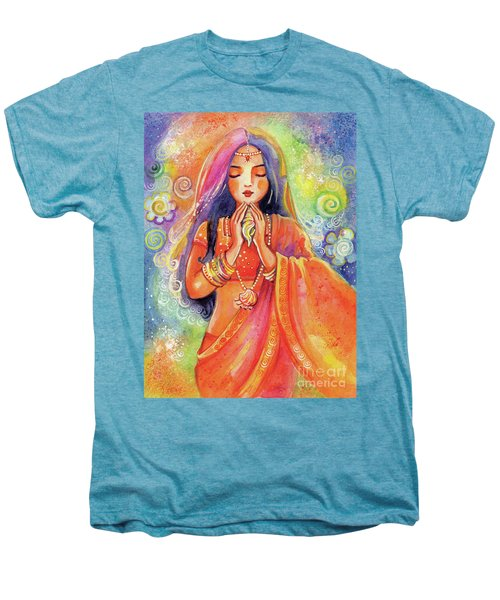 Men's Premium T-Shirt featuring the painting Seashell Wish by Eva Campbell