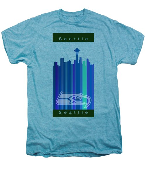 Seattle Sehawks Skyline Men's Premium T-Shirt by Alberto RuiZ