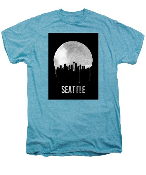 Seattle Skyline Black Men's Premium T-Shirt by Naxart Studio