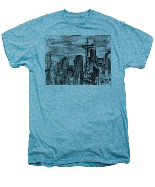 Seattle Skyline Space Needle Men's Premium T-Shirt