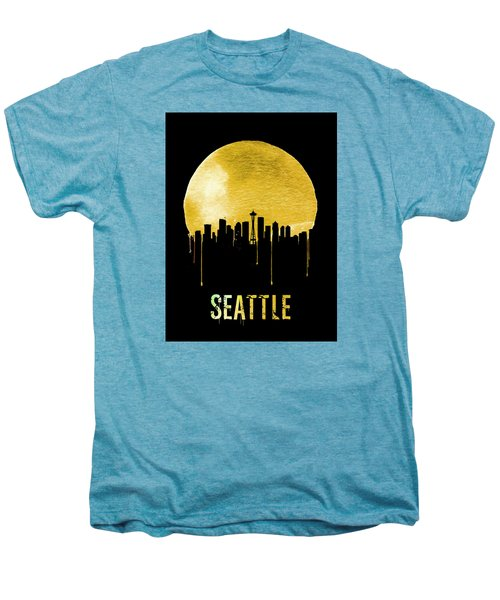Seattle Skyline Yellow Men's Premium T-Shirt by Naxart Studio