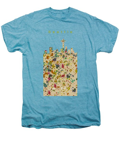 Seattle Skyline.2 Men's Premium T-Shirt by Alberto RuiZ