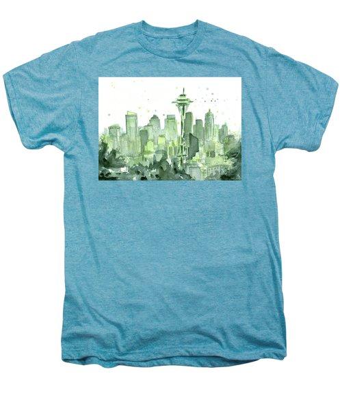 Seattle Watercolor Men's Premium T-Shirt