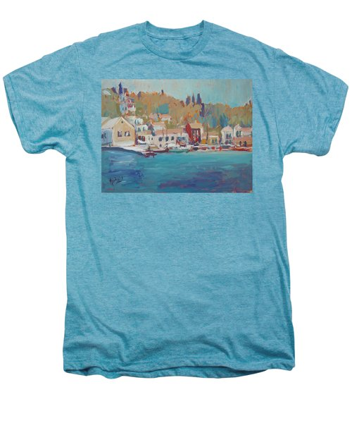 Seaview Lggos Paxos Men's Premium T-Shirt by Nop Briex