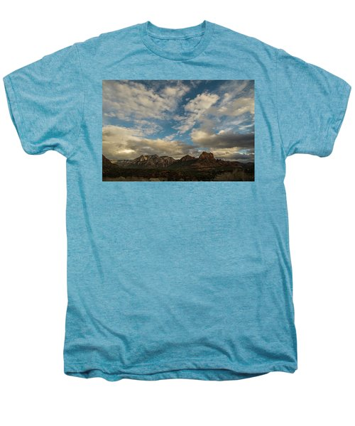 Sedona Arizona Redrock Country Landscape Fx1 Men's Premium T-Shirt by David Haskett