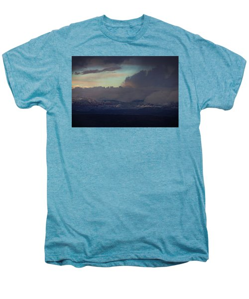 Sedona At Sunset With Red Rock Snow Men's Premium T-Shirt