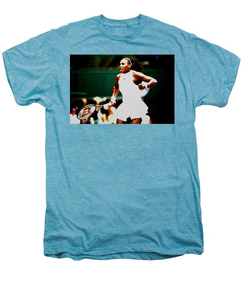Serena Williams Making History Men's Premium T-Shirt by Brian Reaves
