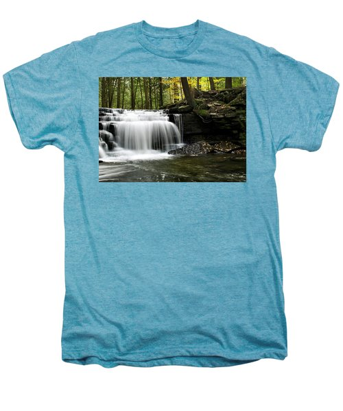 Serenity Waterfalls Landscape Men's Premium T-Shirt
