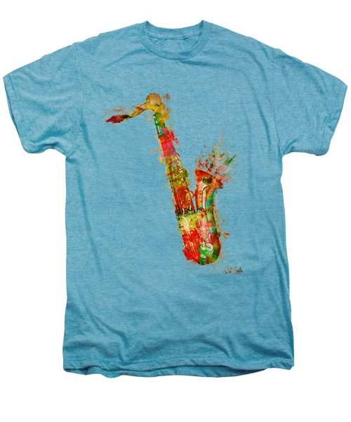 Sexy Saxaphone Men's Premium T-Shirt by Nikki Smith