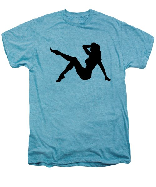 Sexy Trucker Girl Tee Men's Premium T-Shirt by Edward Fielding