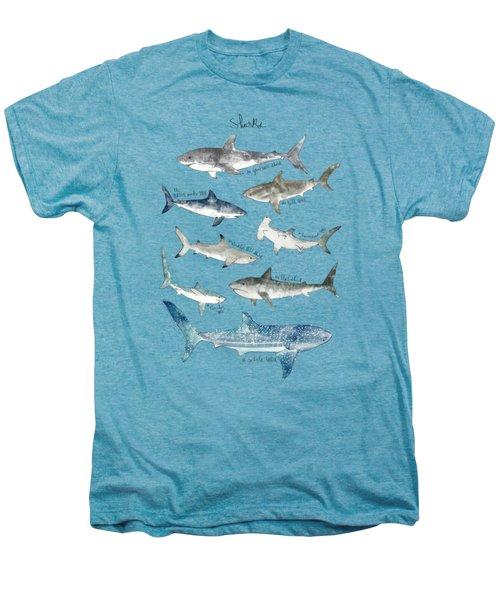 Sharks Men's Premium T-Shirt by Amy Hamilton