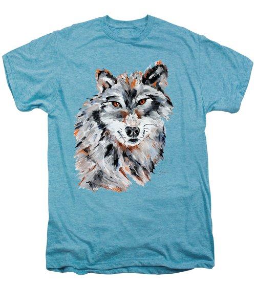 She Wolf - Animal Art By Valentina Miletic Men's Premium T-Shirt by Valentina Miletic