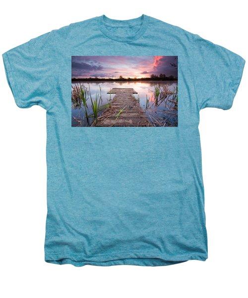 Shinewater Lake Sunrise Men's Premium T-Shirt
