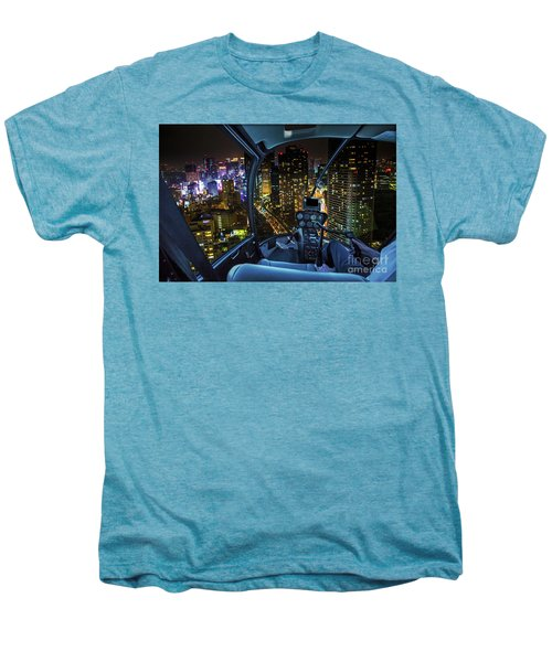 Shiodome Skyline Helicopter Men's Premium T-Shirt