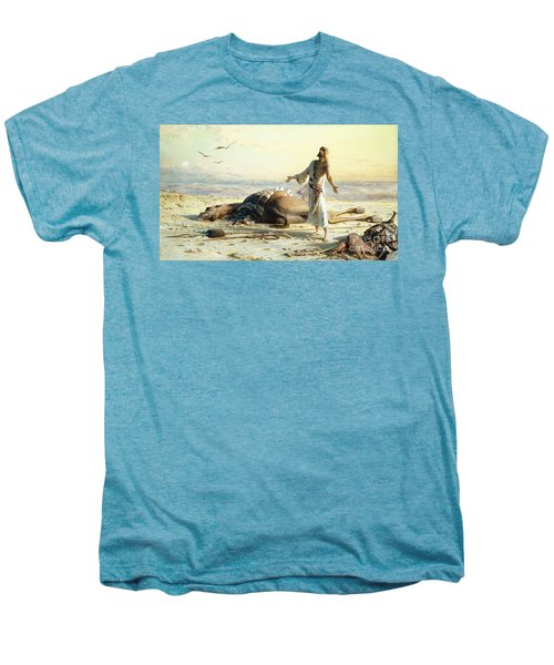 Shipwreck In The Desert Men's Premium T-Shirt by Carl Haag