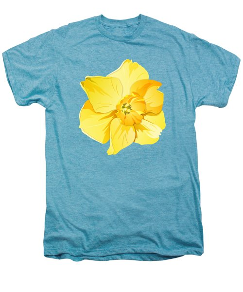 Short Trumpet Daffodil In Yellow Men's Premium T-Shirt