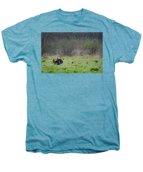 Men's Premium T-Shirt featuring the photograph Showing Off by Bill Wakeley