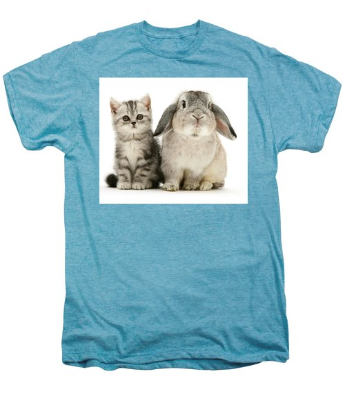Silver Tabby And Rabby Men's Premium T-Shirt