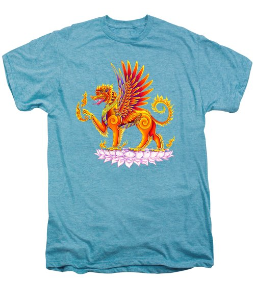 Singha Winged Lion Men's Premium T-Shirt by Rebecca Wang