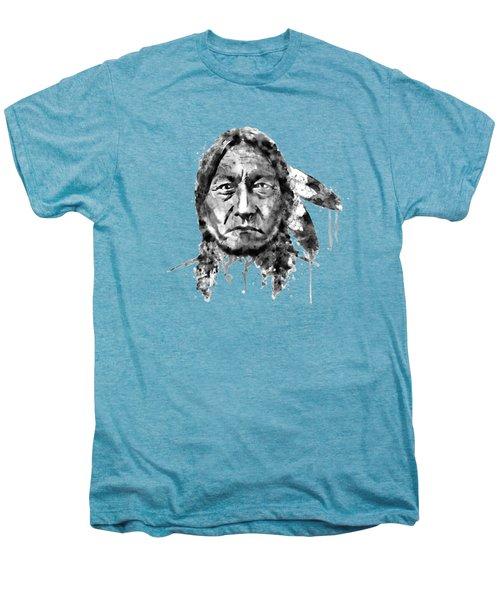 Sitting Bull Black And White Men's Premium T-Shirt