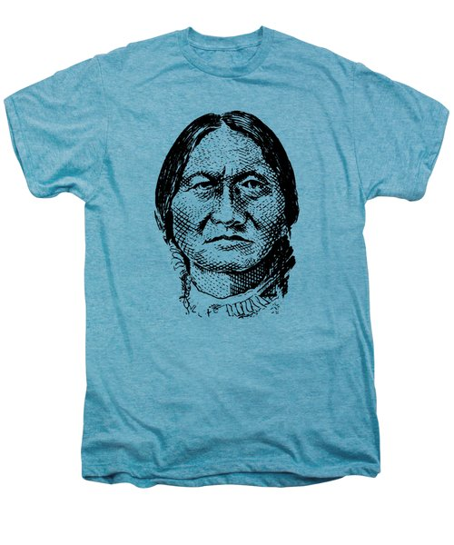Sitting Bull Graphic Men's Premium T-Shirt by War Is Hell Store