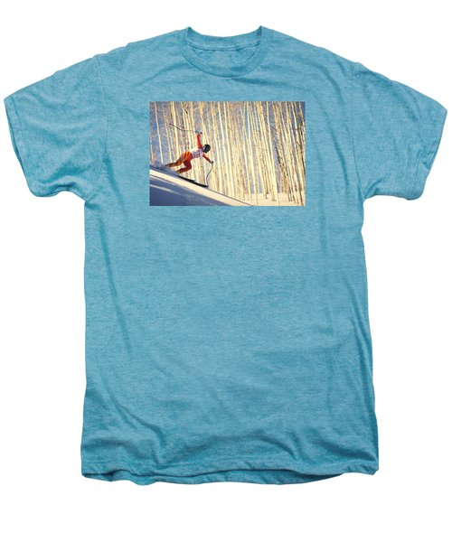 Skiing In Aspen, Colorado Men's Premium T-Shirt
