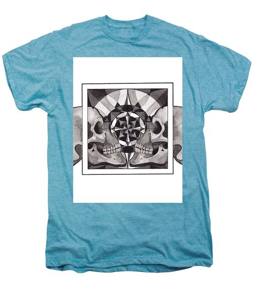 Skull Mandala Series Nr 1 Men's Premium T-Shirt by Deadcharming Art