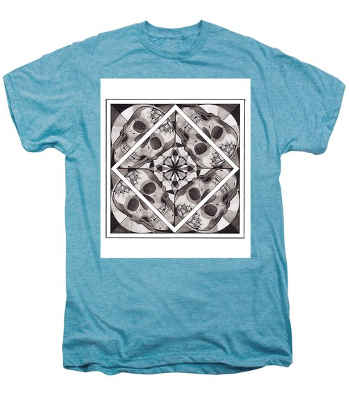Skull Mandala Series Number Two Men's Premium T-Shirt by Deadcharming Art