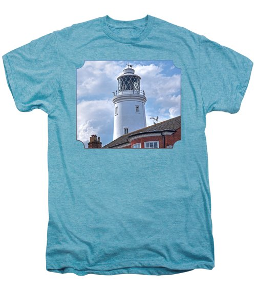 Sky High - Southwold Lighthouse Men's Premium T-Shirt by Gill Billington