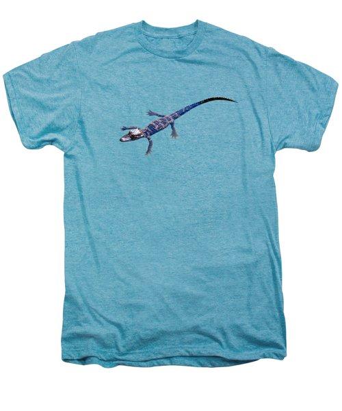 Slightly Waving A Tail. Alligator Baby Men's Premium T-Shirt
